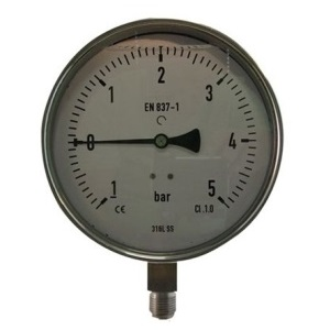 Manometer 63mm, compleet RVS