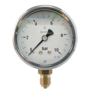 Manometer 63mm. RVS kast